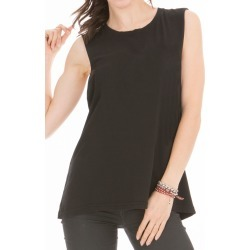 Women's Muscle Tee in Black