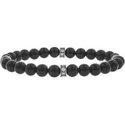 The Mister Kingly Bead Bracelet - Onyx & Chrome