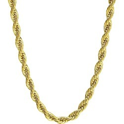 8 MM Stainless Steel Twist Rope Gold Chain