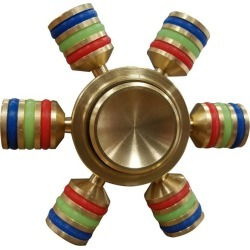 Multi Colored Metal Finger Fidget Spinner