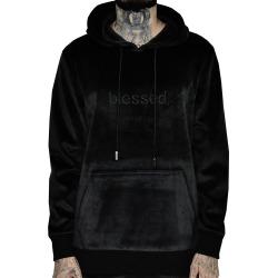 Blessed Velour Hoodie (Black)