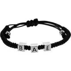 The Mister Bae Bead Bracelet - Black & Chrome