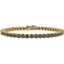 The Mister Crystal Bracelet - Gold & Black