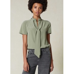 Zip Up Silk Top + Tie - Sage (8) found on Bargain Bro UK from me em