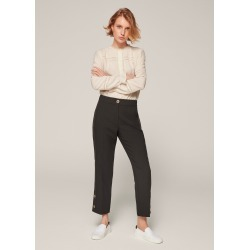 Crease-Free Slim Crop Trouser - Black (14) found on Bargain Bro UK from me em