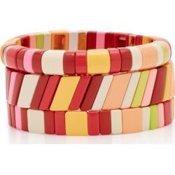 Roxanne Assoulin Set-Of-Three Negroni Zinc Bracelets