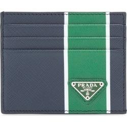 Prada Striped Textured-Leather Card Case found on Bargain Bro India from Moda Operandi for $260.00
