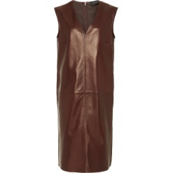 Joseph Gwen V-Neck Leather Dress