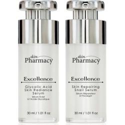 Skin Pharmacy K2 SP Excellence Glycolic Acid Skin Radiance Serum + Excellence Skin Repairing Snail Serum