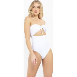 Brave Soul STRAPLESS SWIMSUIT WITH TIED FRONT PEEP HOLE found on MODAPINS from MYSALE GROUP (OzSale) for USD $3.89