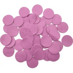 Ombré Leather Leather 50pcs x 25mm Round Lilac Nappa Lambskin Leather Piece- Remnant Skin for Crafts, Jewellery Making, Embroidery, Sewing