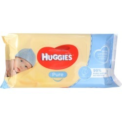 Huggies 10 Pack Huggies Pk56 Baby Wipes Pure Unscented Sticky Top