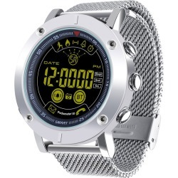 """Bluetooth V4.0 Smart Watch 1.8"""" Fstn Lcd Sports Tracker Ip67 Android Ios - Silver"""