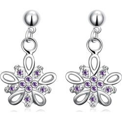 Holiday Classic Holiday Inspired 18K White Gold Plated Earring Made with Crystals found on MODAPINS from MYSALE GROUP (OzSale) for USD $14.21