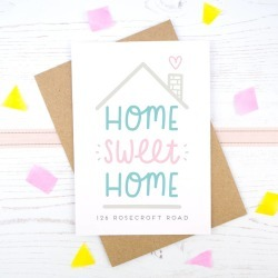 Personalised Home Sweet Home Card