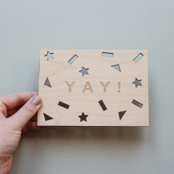 Yay Wooden Greeting Card