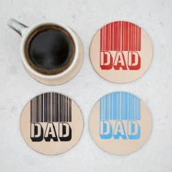 I Love You Dad Round Leather Coaster found on Bargain Bro UK from Notonthehighstreet.com