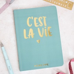 Personalised C'est La Vie Foil Notebook