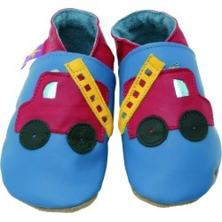 Soft Leather Baby Shoes Fire Engine