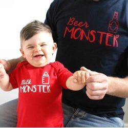 Beer Monster, Milk Monster Father And Baby Set