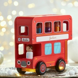 Red Wooden Toy Bus