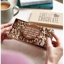 'Roses Are Red…' Cheeky Chocolate Gift For Partner