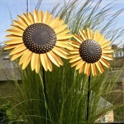 Recycled Metal Sunflower Stems