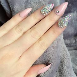 Sparkle Pastel False Nails