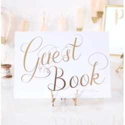 Guest Book Gold Foil Personalised Wedding Sign