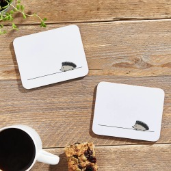 Hedgehog Coasters, Set Of Two found on Bargain Bro UK from Notonthehighstreet.com