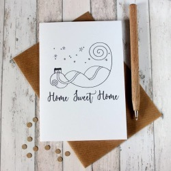 New Home Card 'Home Sweet Home' Illustrated Card