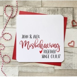 Misbehaving Together Since Personalised Card