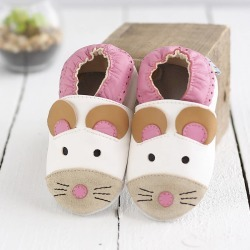 Mouse Soft Leather Baby Shoes