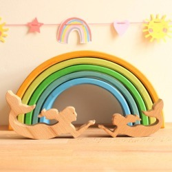 Wooden Toy Mermaid Family
