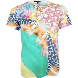 Unisex Giraffe Textured Bird Printed T Shirt Tee