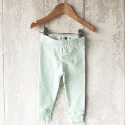 Mint Triangle Baby Leggings