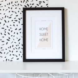 Personalised 'Home Sweet Home' Colour Block Print