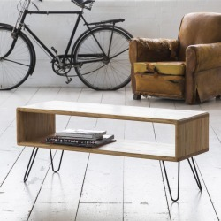Ash Midcentury Modern Hairpin Leg Tv Stand found on Bargain Bro UK from Notonthehighstreet.com for $875.40