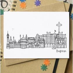 Brighton Landmarks Greetings Card