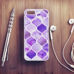 Moroccan Pattern Watercolour Texture Case For iPhone found on Bargain Bro UK from Notonthehighstreet.com for $18.87