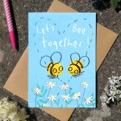 Let' Be Together Valentines Love Greetings Card