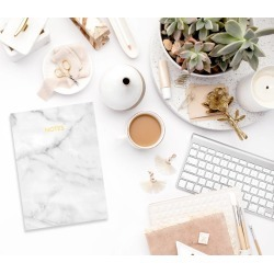 Marble Gold Foil A6 Notebook
