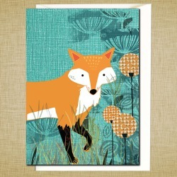 Young Fox Greetings Card