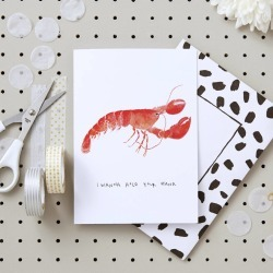 Lobster Valentines Card
