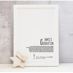 Personalised Graduation A4 Print And Poem