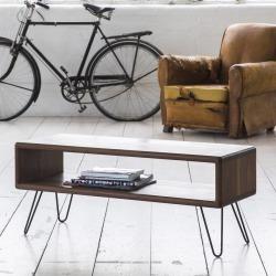 Walnut Midcentury Modern Hairpin Leg Tv Stand found on Bargain Bro UK from Notonthehighstreet.com for $972.66