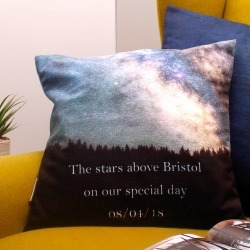 Romantic Gift Cushion With Personalised Constellation found on Bargain Bro UK from Notonthehighstreet.com