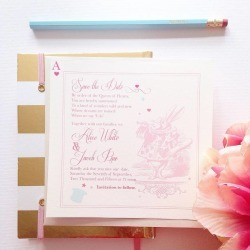 Adorable Alice Save The Date Card