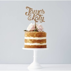 Personalised Couples Wedding Cake Topper