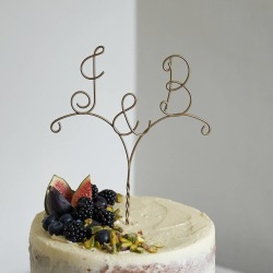 Personalised Arrow Initial Wire Wedding Cake Topper